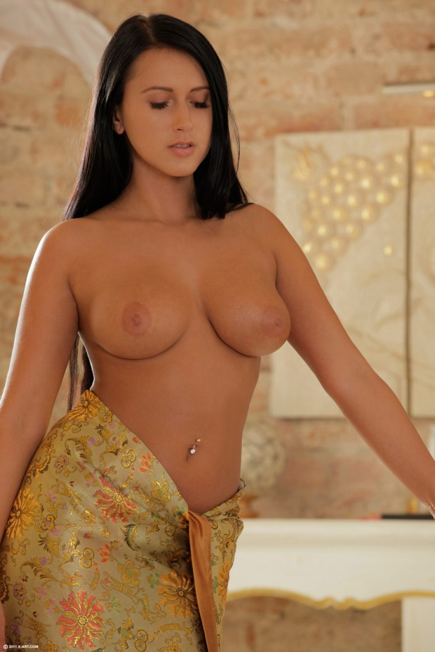 Angelica Kitten enters the scene with her massive tits